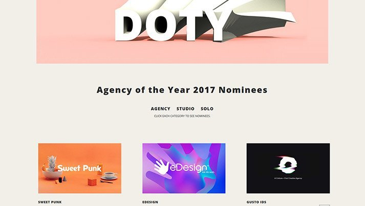 """eDesign Nominated for """"Agency of the Year"""" at World's Renown CSS Design Awards"""
